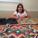 Madeline with 3 wheelchair Buddee Bags